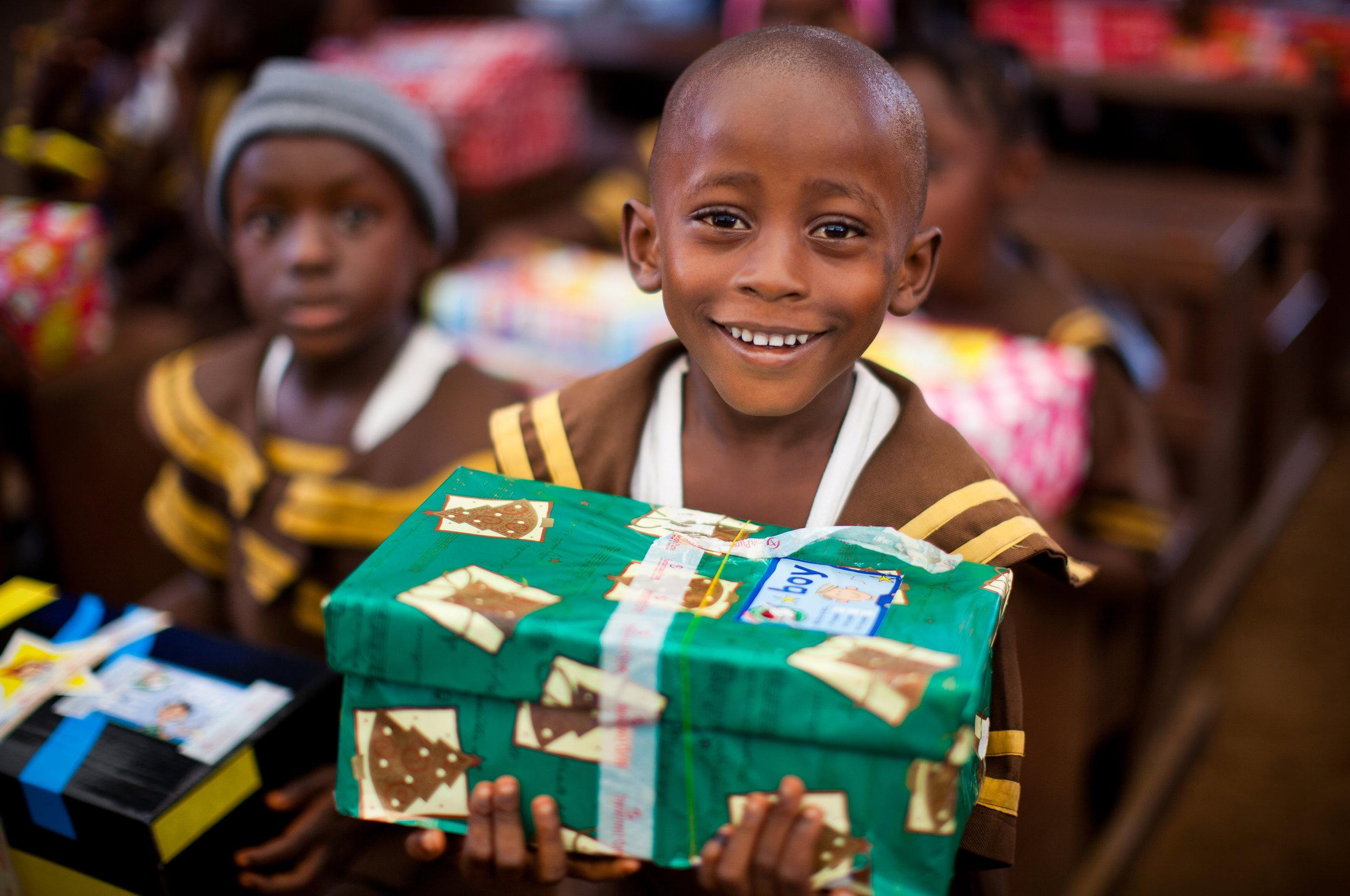 Shoebox distribution in Liberia