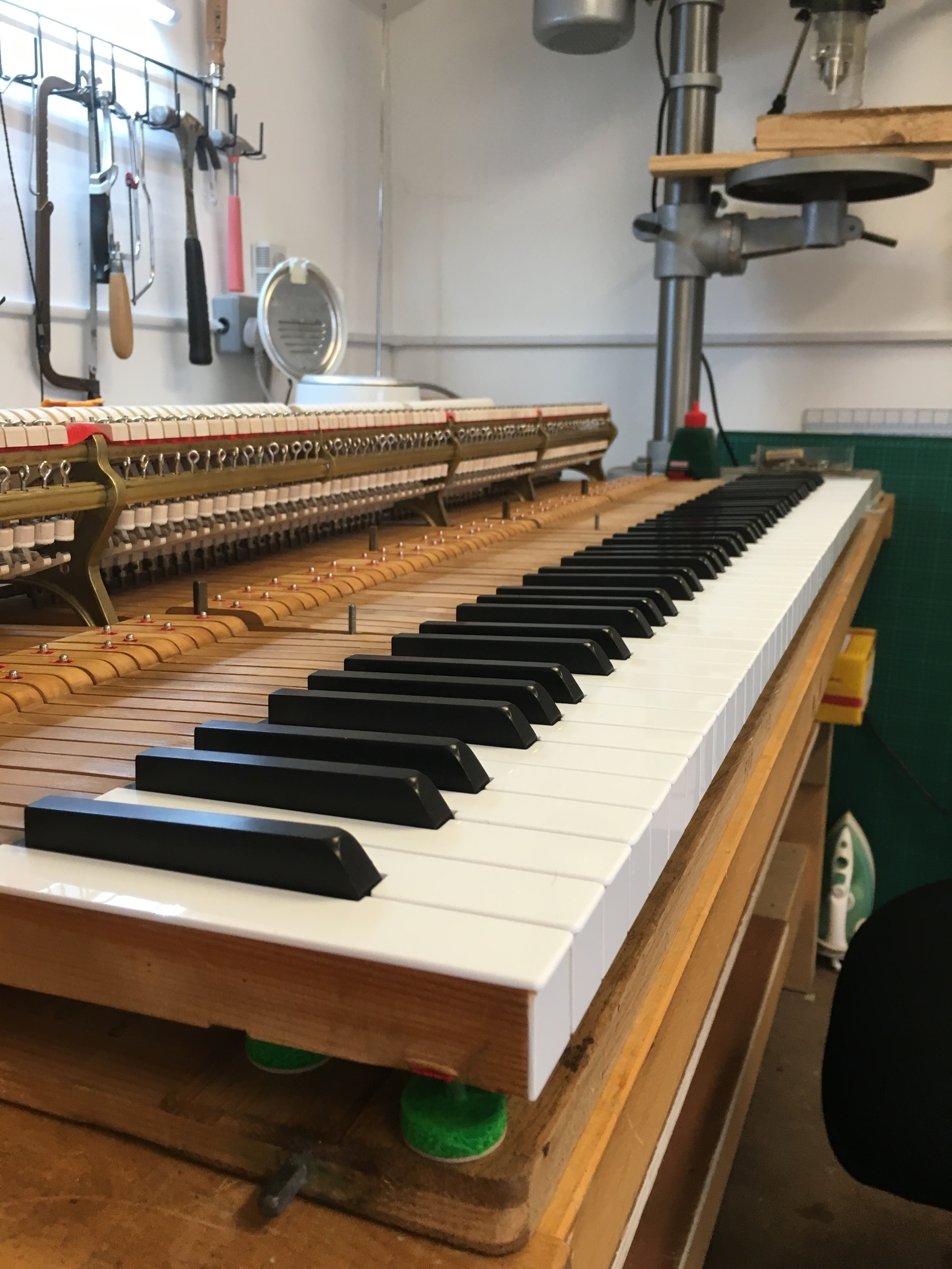 Key height set and keys levelled. New S&S key tops including new solid ebony sharps.