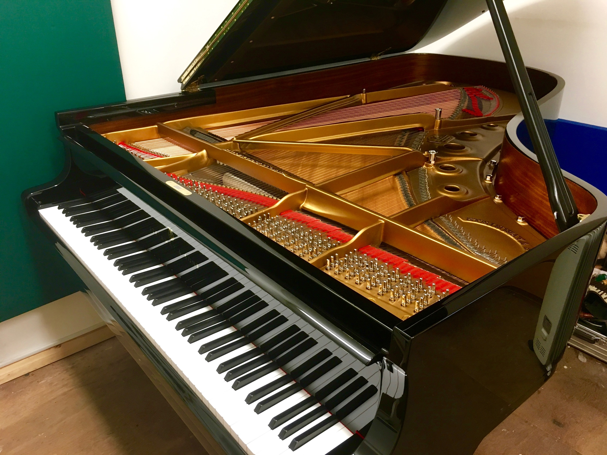 The completed piano
