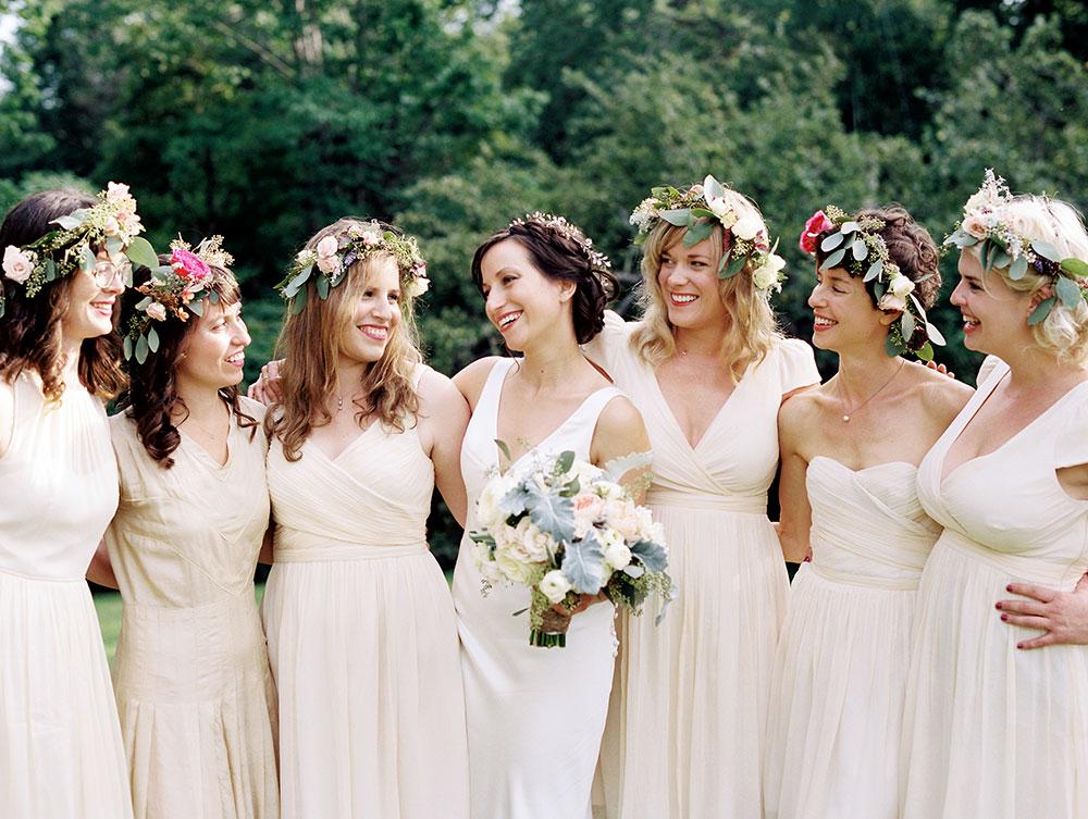 Backyard wedding on film