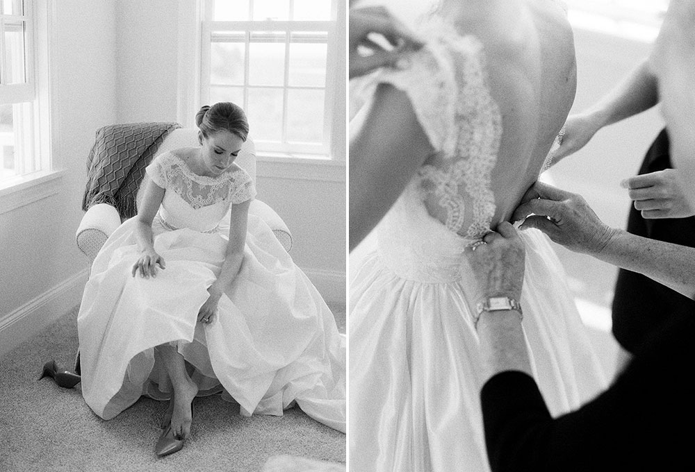 bride getting ready on the cape