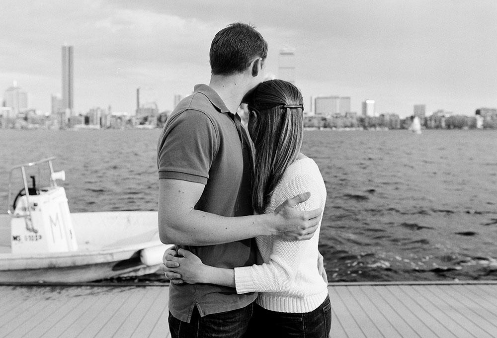 photo with boston coastline from esplanade