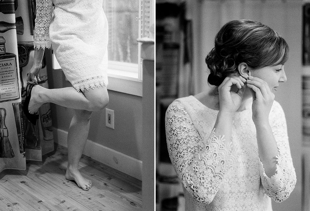 untraditional wedding dress with lace and sleeves
