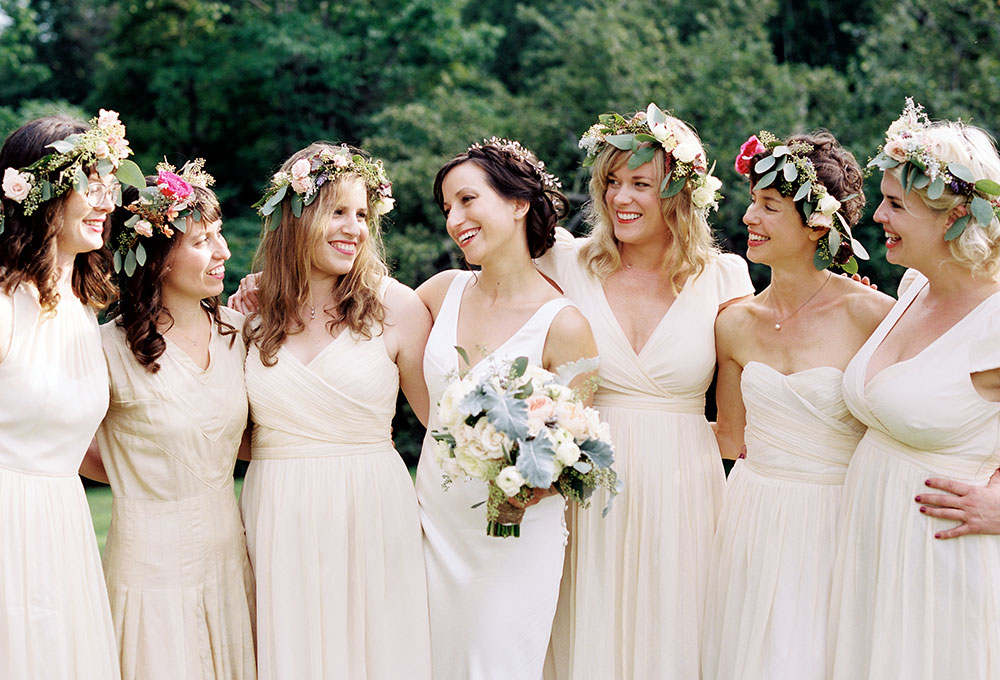 floral crowns for bridesmaids