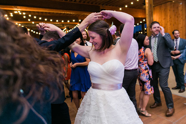 bride dancing with best friend