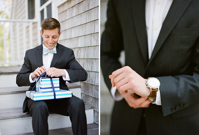 thoughtful day of gifts from bride to groom - Sarah Der Photography