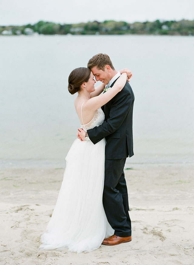 Film wedding day portraits on the beach - Sarah Der Photography