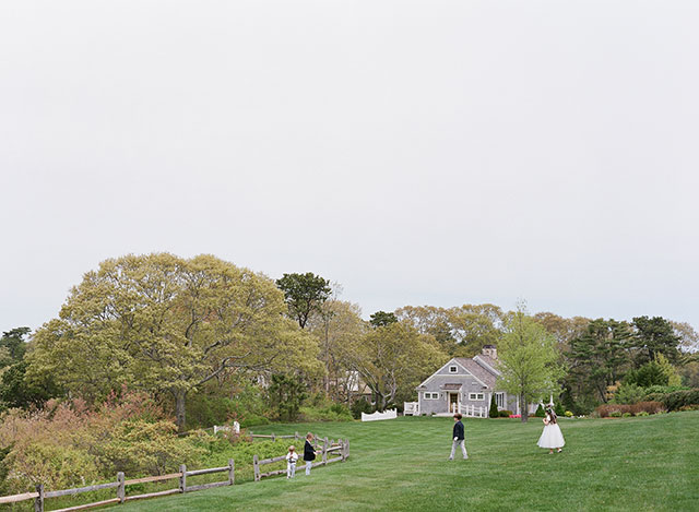 outdoor reception venue on Cape Cod with waterfront view - Sarah Der Photography