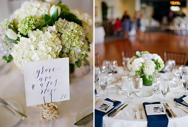 calligraphy table numbers - Sarah Der Photography