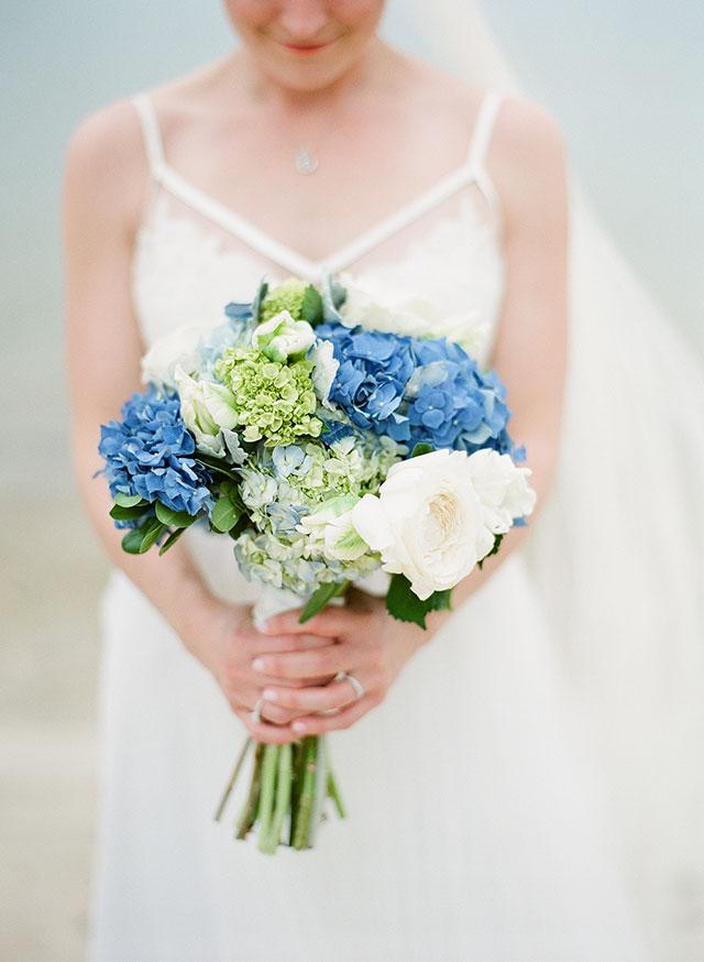 Vintage Flowers purple and white bridal bouquet - Sarah Der Photography