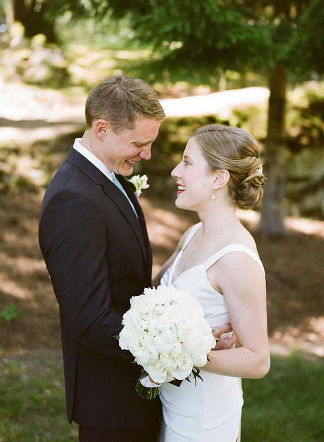 Nicole Miller wedding gown with elegant beaded belt - Sarah Der Photography