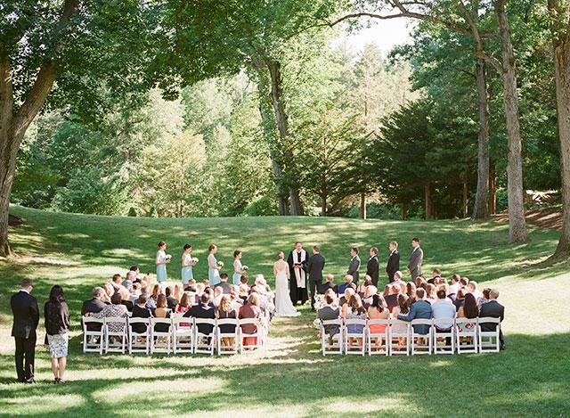 outdoor summer wedding outside Boston, MA - Sarah Der Photography