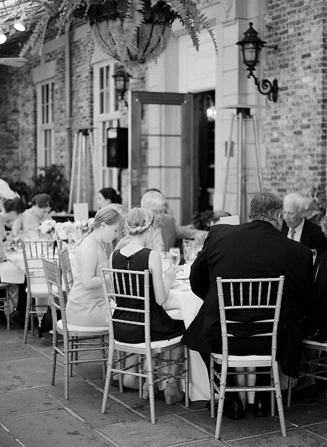 outdoor seated dinner - Sarah Der Photography
