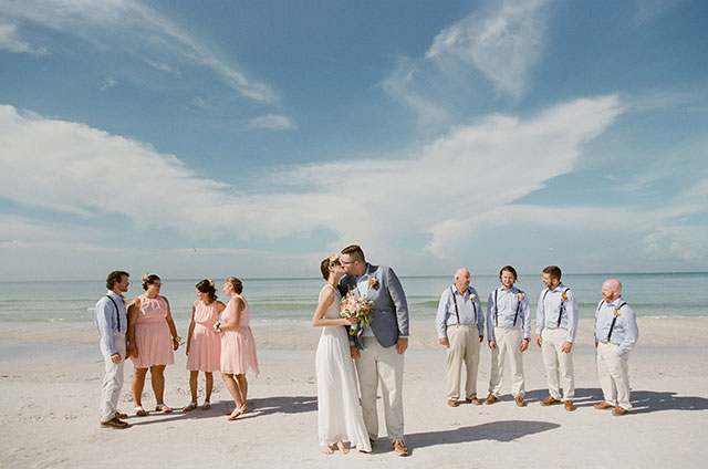 waterfront beach venue in anna maria, florida - Sarah Der Photography