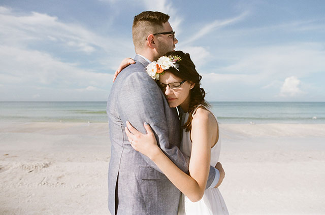 candid and sweet wedding portraits shot on film - Sarah Der Photography
