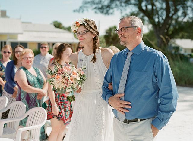 beach wedding ceremony on a sunny day - Sarah Der Photography