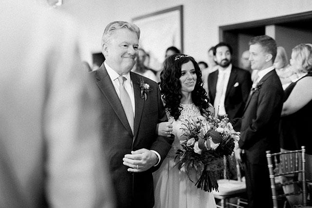dad walks bride down the aisle - Sarah Der Photography