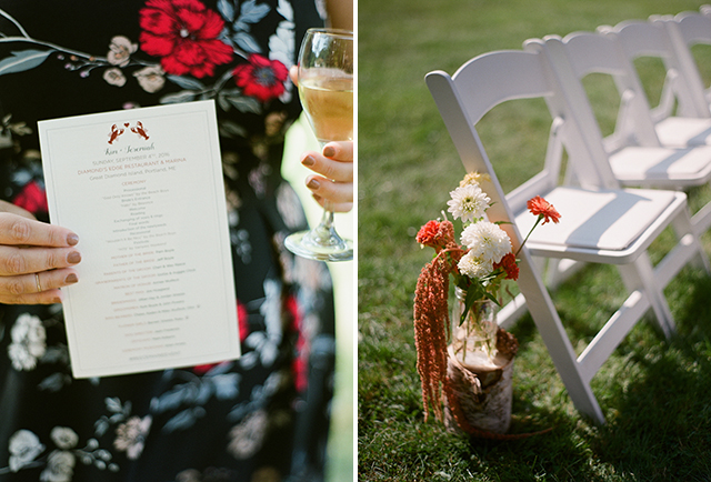 lobster themed wedding paper goods for maine wedding - Sarah Der Photography