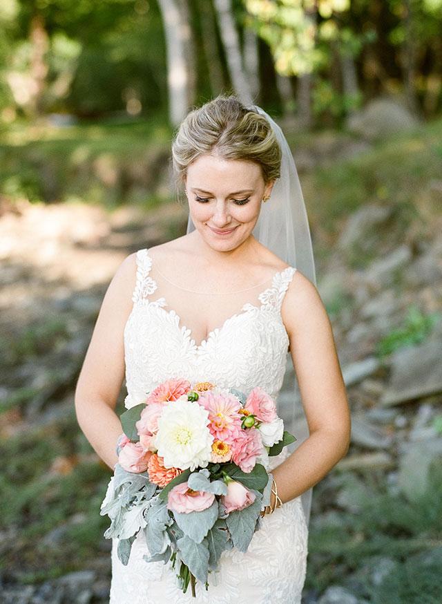 beautiful bridal photos off the coast of maine - Sarah Der Photography