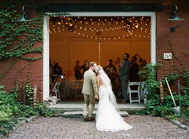 barn reception on great diamond island - Sarah Der Photography