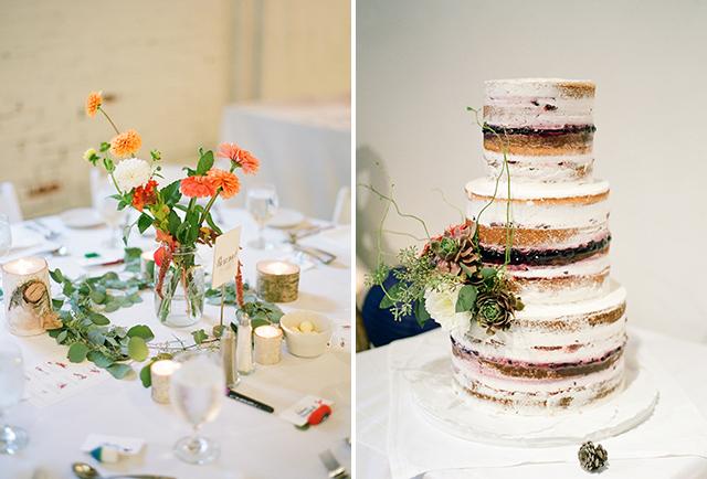 foley's bakery wedding cake, portland maine - Sarah Der Photography