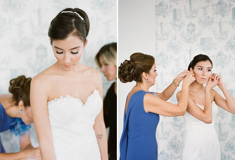bridal preparations in Wythe Hotel loft - Sarah Der Photography