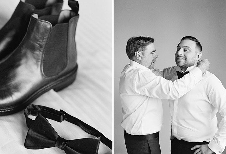 groom getting ready - Sarah Der Photography