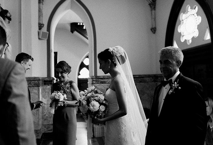Church Ceremony shot on film - Sarah Der Photography