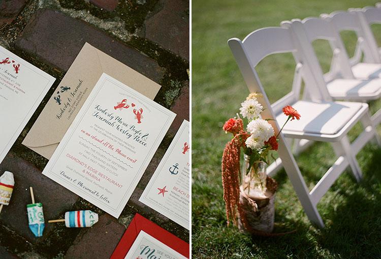 wildflower wedding details - Sarah Der Photography