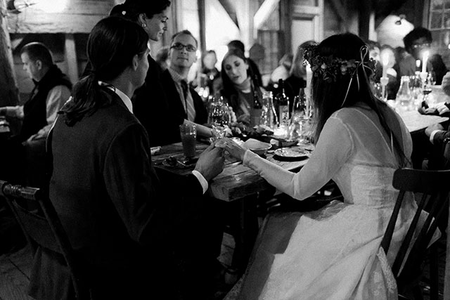 intimate moment between bride and groom - Sarah Der Photography