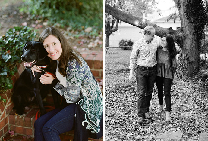 Carillon family session with black lab puppy