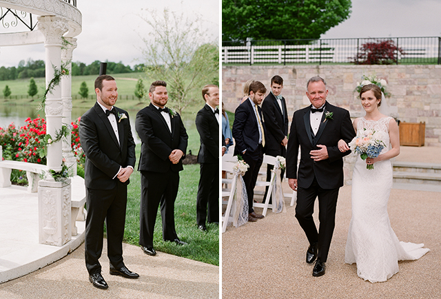 film wedding photography with outdoor, lakeside venue