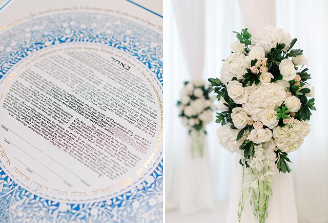 ketubah signing at bethesda country club for jewish wedding