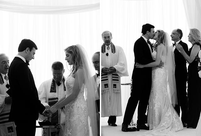 bride and groom pray