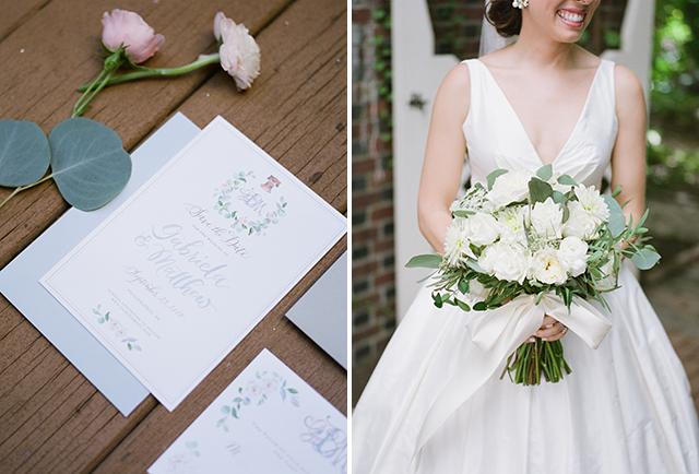 Lemontree Calligraphy and Illustration wedding invitation design