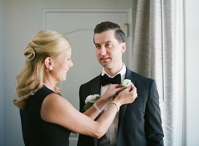 The Ritz-Carleton Hotel Philadelphia, PA groom getting ready in suite