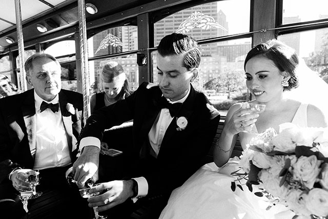 trolley rides around Philadelphia with champagne!