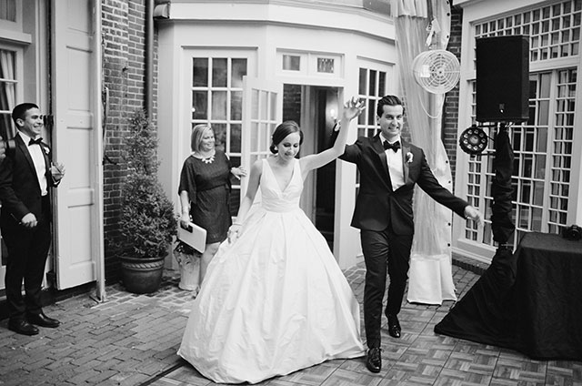 Bride and groom enter the reception!