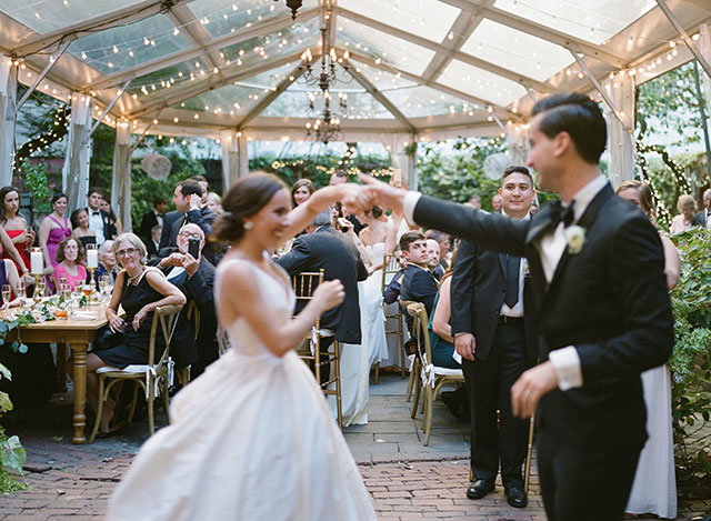 Couple shares first dance at their Morris House Hotel wedding reception