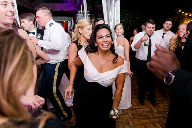 Fun dancing photo of mother of the bride