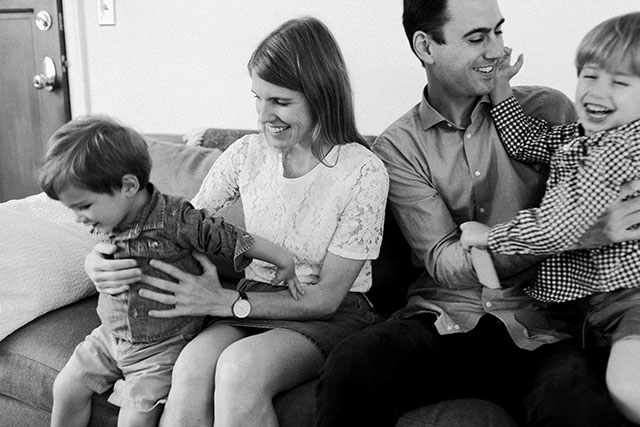 Lifestyle photography session with family at their home in Arlington, Virginia by Sarah Der Photography