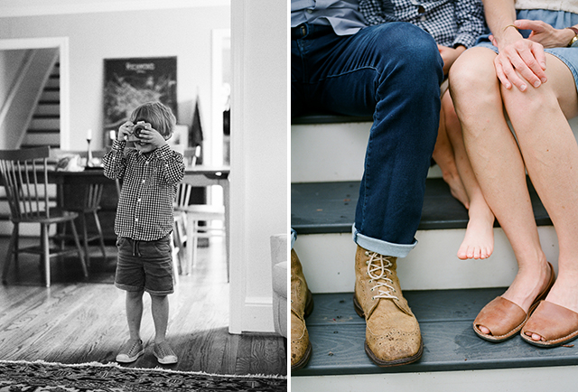 Sweet sincere family moments shot on film by Sarah Der Photography