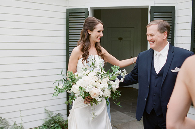 bride and groom's dad share moment of laughter - Sarah Der Photography