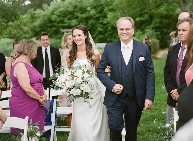 outdoor summer ceremony at garden in chapel hill - Sarah Der Photography