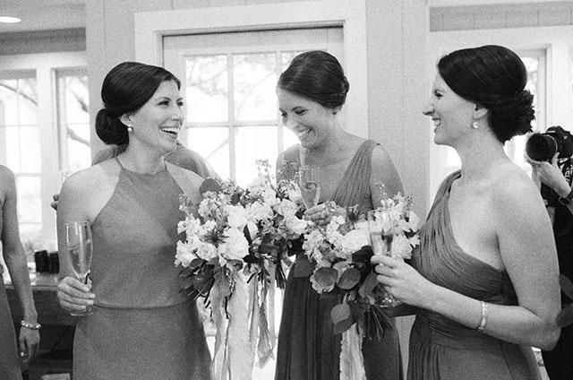 bridesmaids laughing - Sarah Der Photography