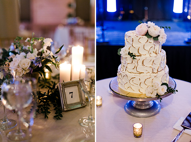 cake with floral details  - Sarah Der Photography