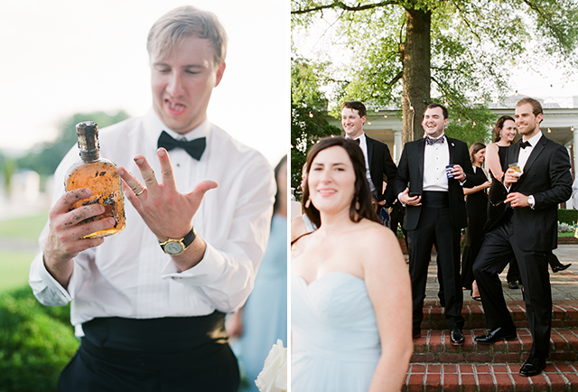 groomsmen laugh by Sarah Der Photography