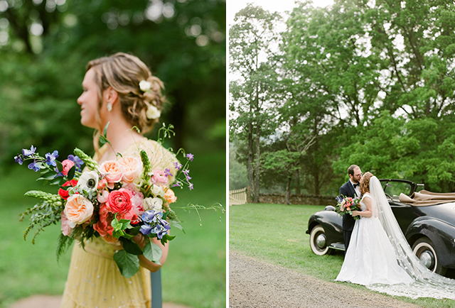 beautiful floral design for wedding in the mountains of Virginia - Sarah Der Photography