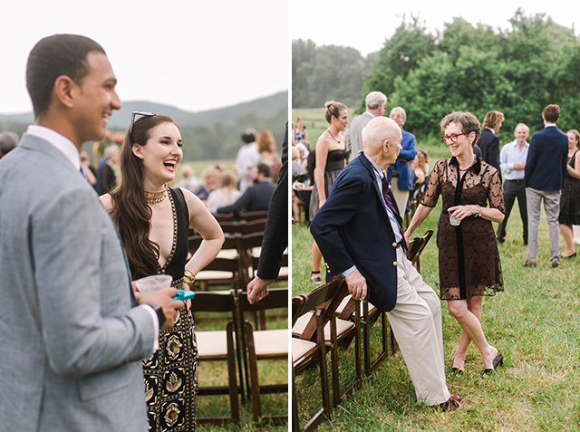 outdoor mountain ceremony in northern virginia