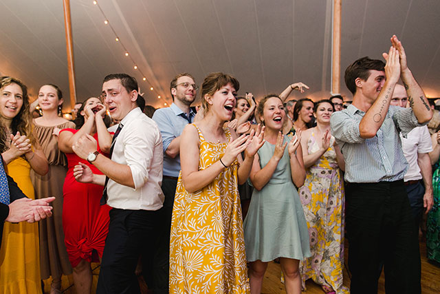 fun outdoor tent reception photos